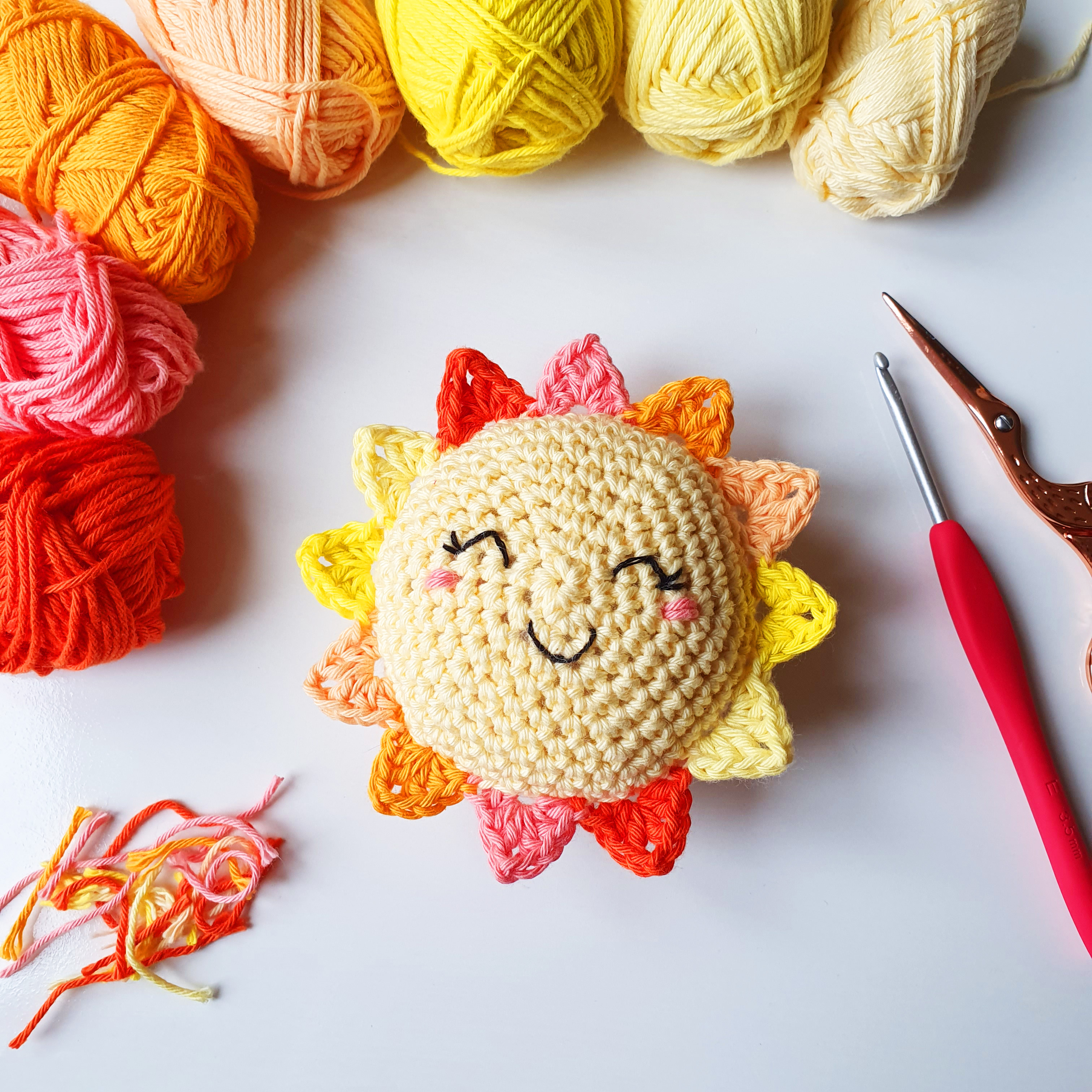 Smiley Amigurumi Sunshine