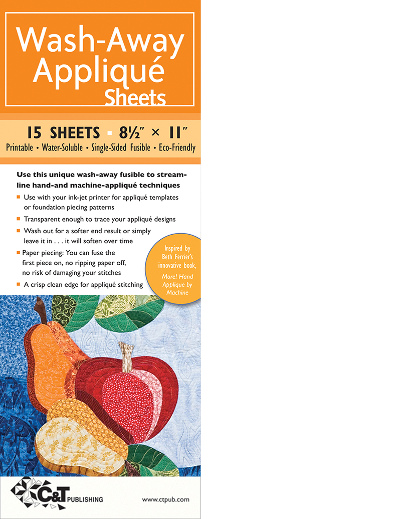Wash-Away Appliqué Sheets