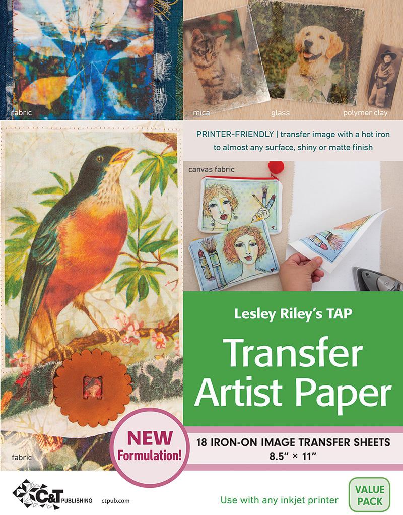Lesley Riley's TAP Transfer Artist Paper, 18 Sheet Pack
