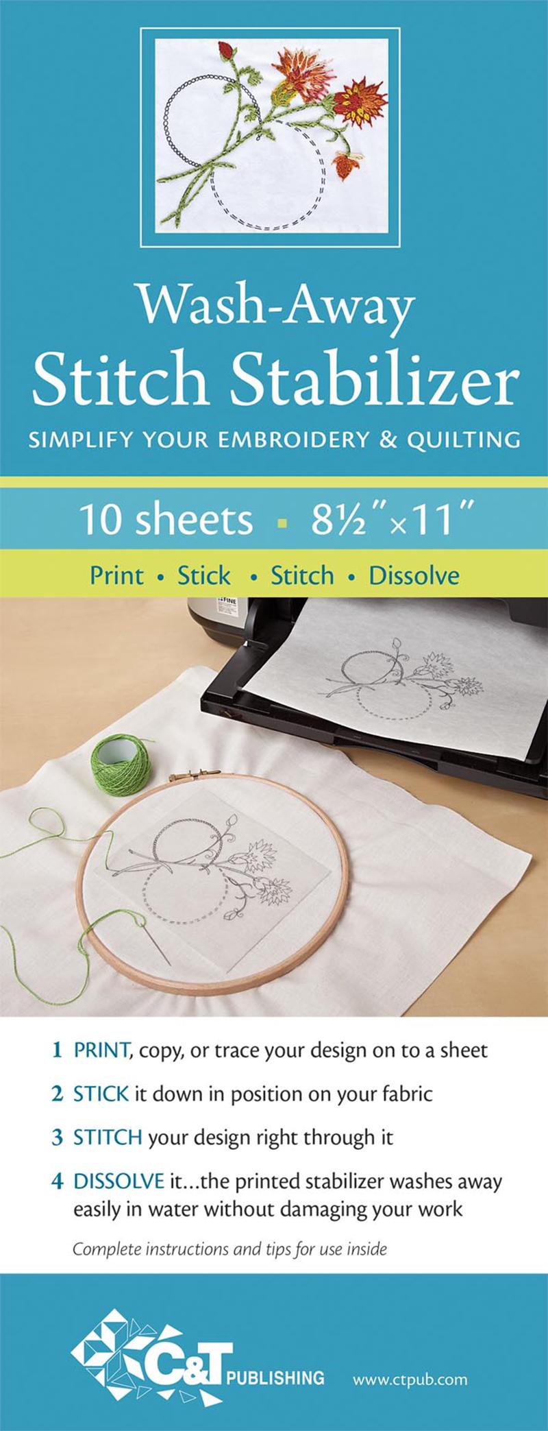 Wash-Away Stitch Stabilizer