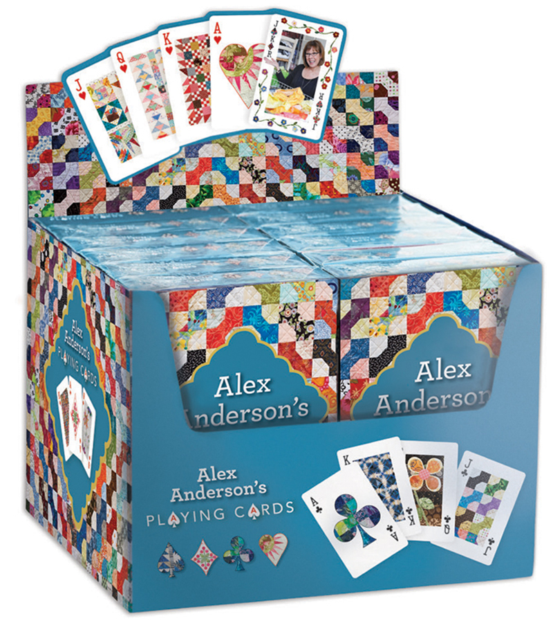 Alex Anderson's Playing Cards POP Display
