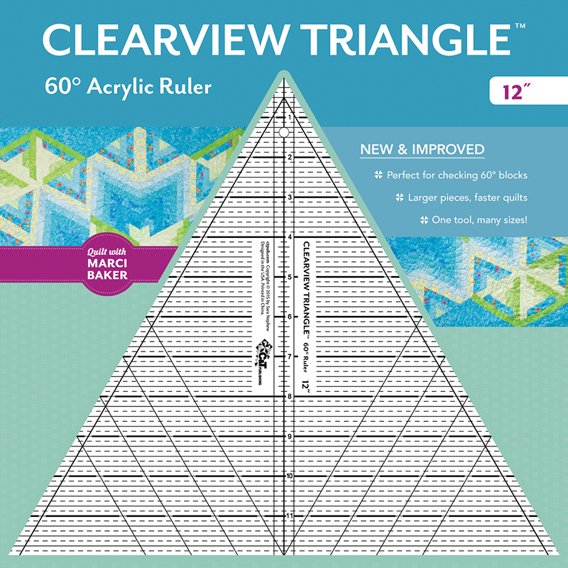 Clearview Triangle 60° Acrylic Ruler - 12
