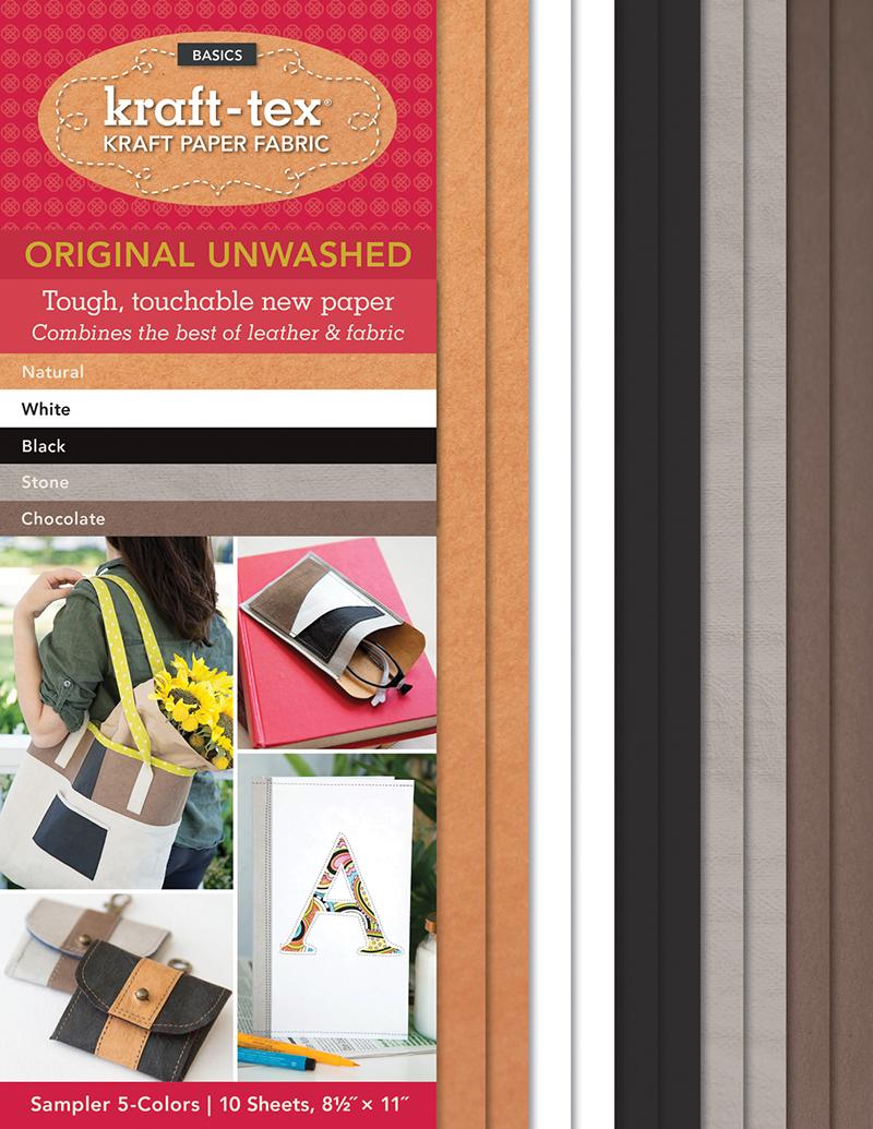 kraft-tex® Basics 5 Colours Sampler Pack, Unwashed