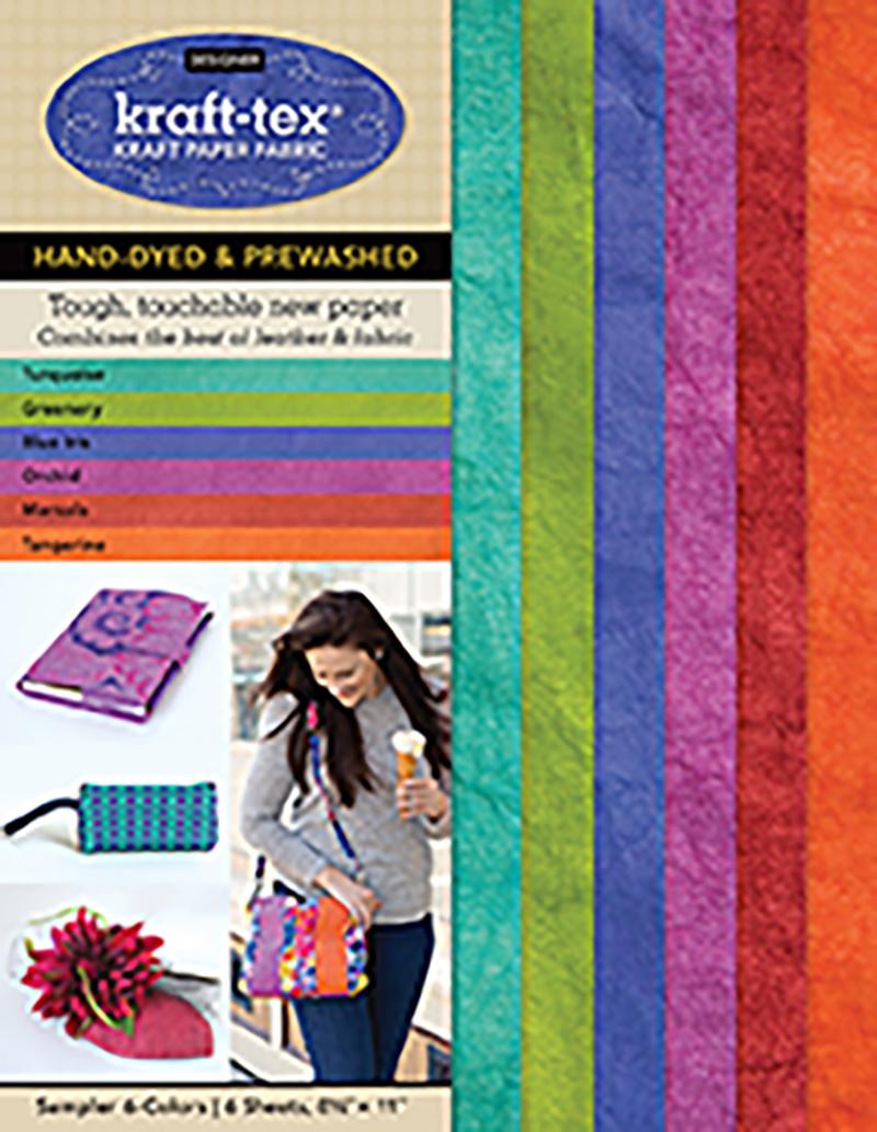 kraft-tex® Designer 6 Colours Sampler Pack, Hand-dyed & Prewashed