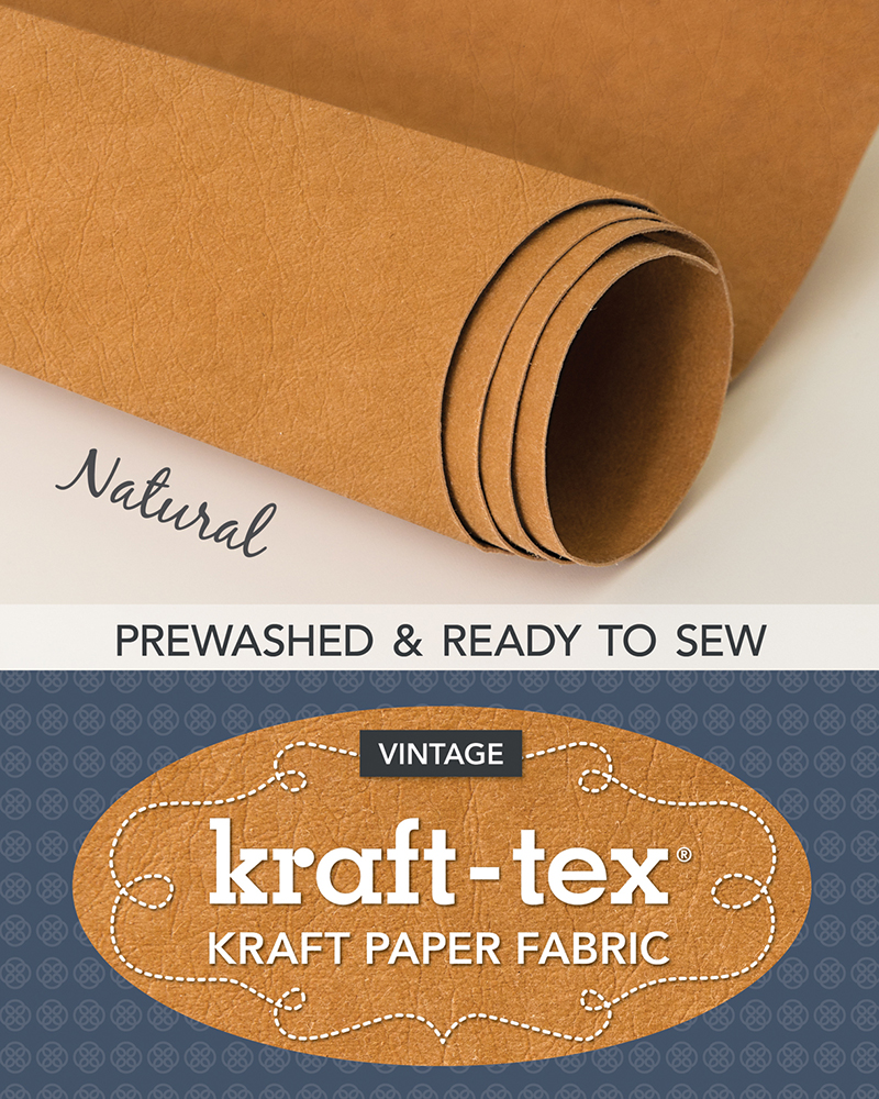 kraft-tex® Vintage Roll, Natural Prewashed