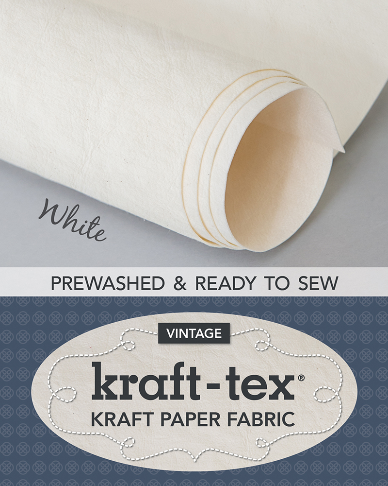 kraft-tex® Vintage Roll, White Prewashed
