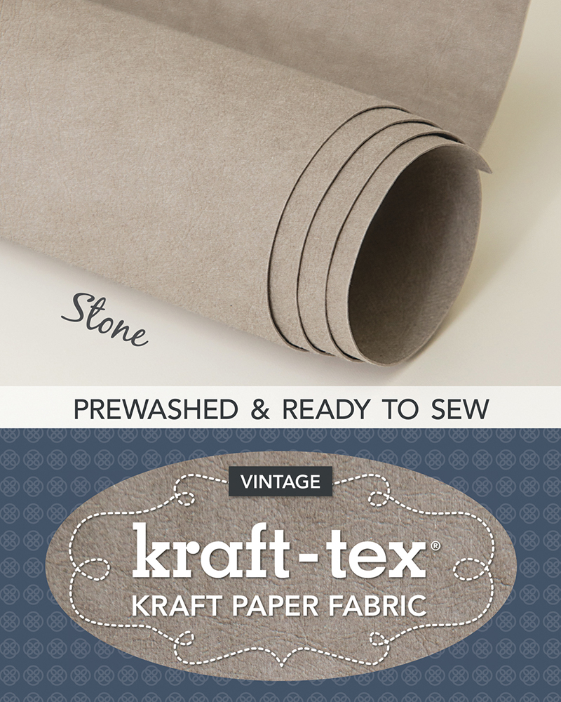 kraft-tex® Vintage Roll, Stone Prewashed