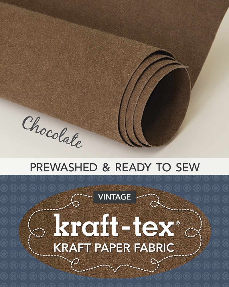 kraft-tex® Vintage Roll, Chocolate Prewashed