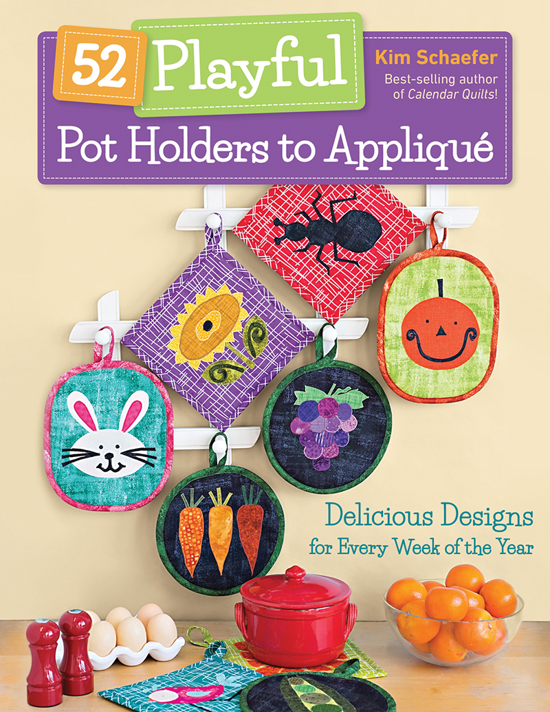 52 Playful Pot Holders to Appliqué