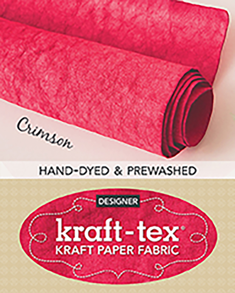 kraft-tex® Roll Crimson Hand-Dyed & Prewashed