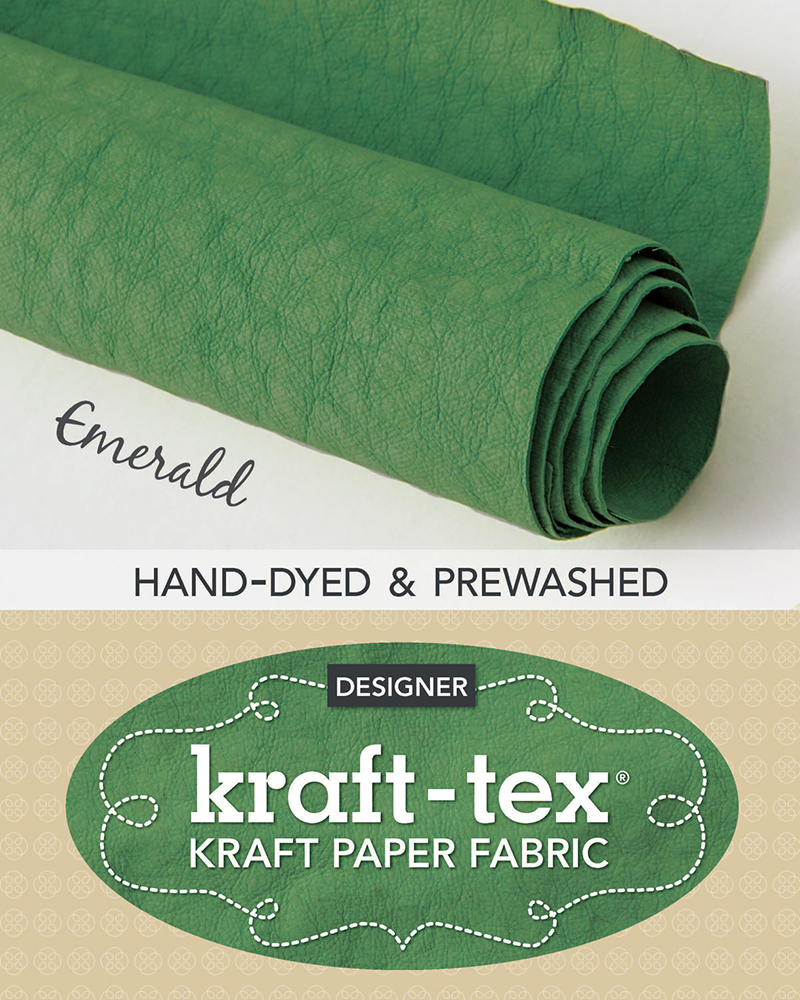 kraft-tex® Roll Emerald Hand-Dyed & Prewashed