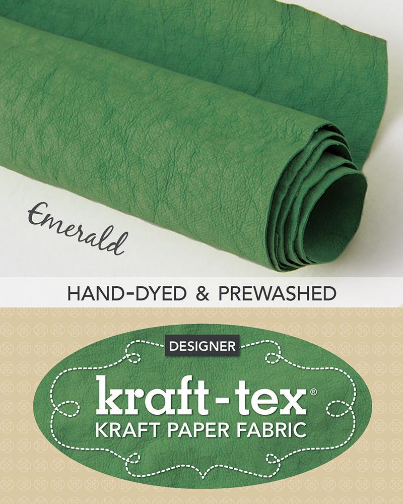 kraft-tex® Roll Emerald Hand-Dyed & Prewashed