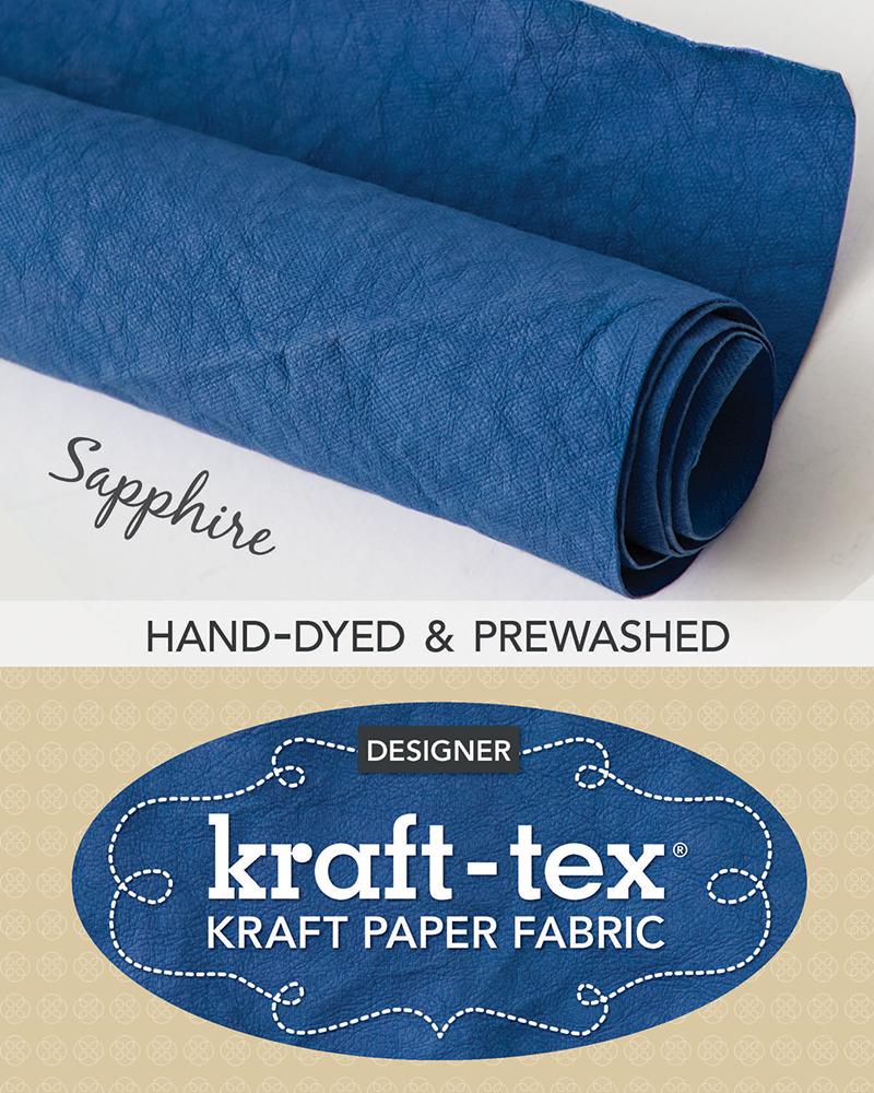 kraft-tex® Roll Sapphire Hand-Dyed & Prewashed