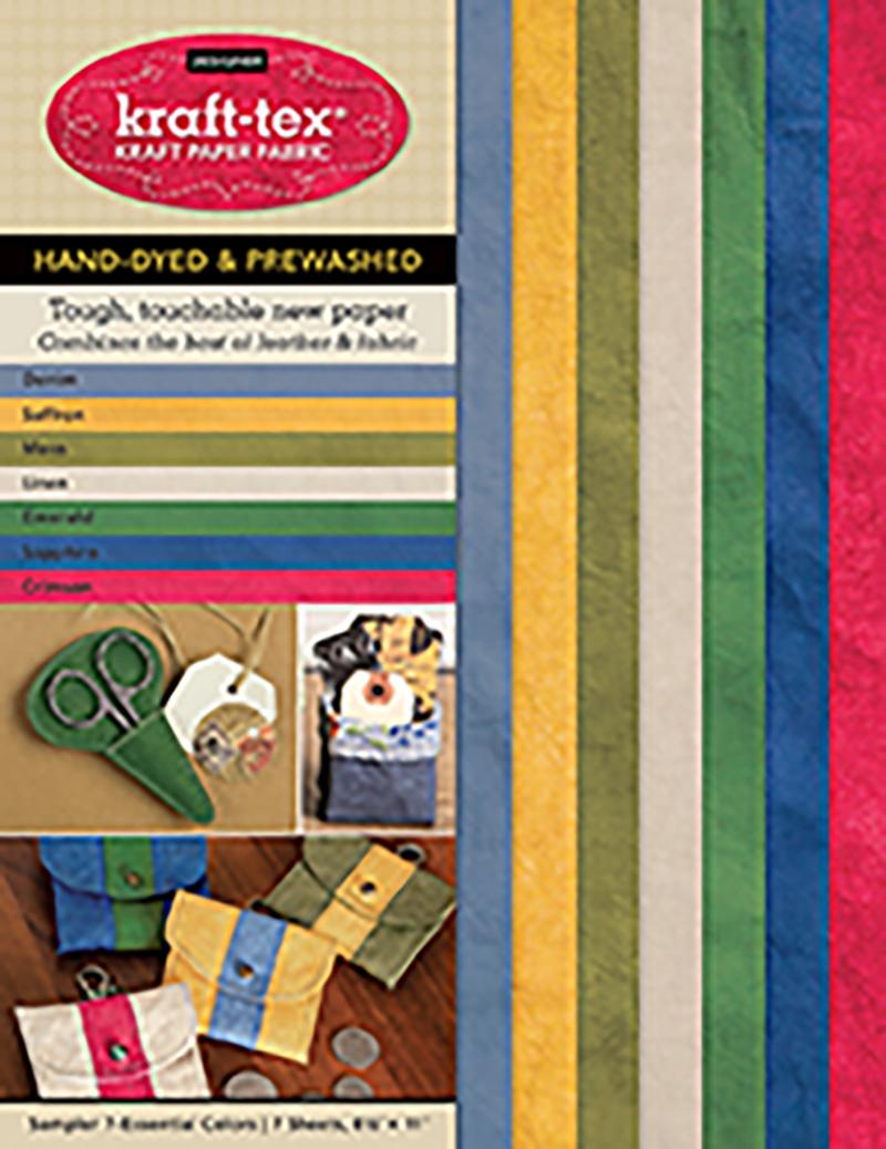 kraft-tex® Designer 7 Essential Colours Sampler Pack, Hand-dyed & Prewashed