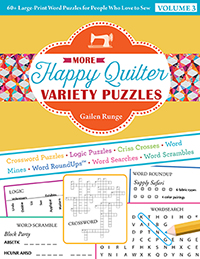 More Happy Quilter Variety Puzzles—Volume 3