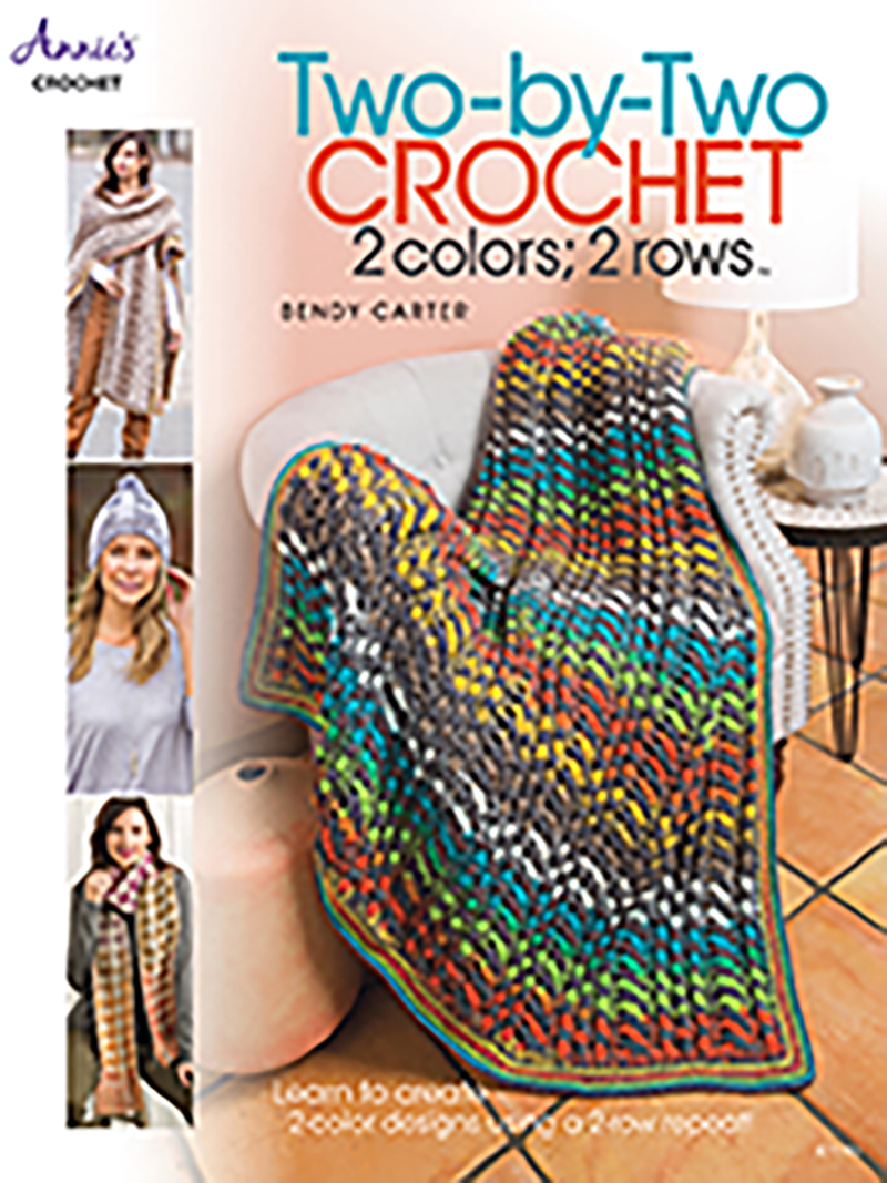 Two-by-Two Crochet: 2 colors; 2 rows