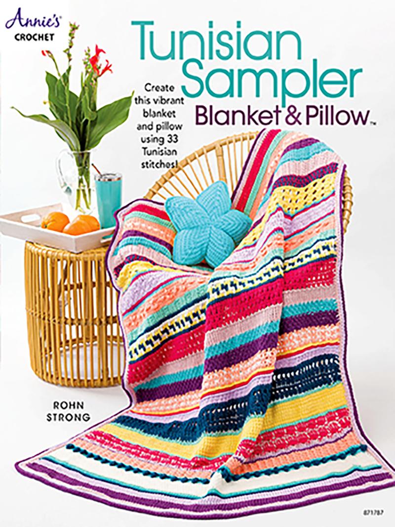 Tunisian Sampler Blanket & Pillow