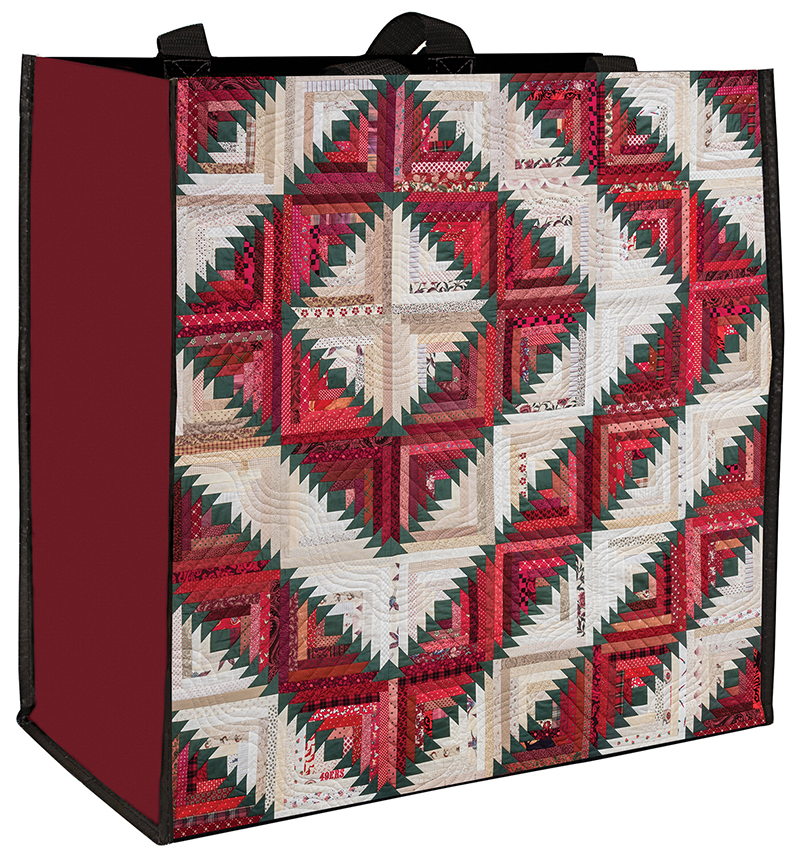 Carolie Hensley's Holiday Log Cabin Eco Tote