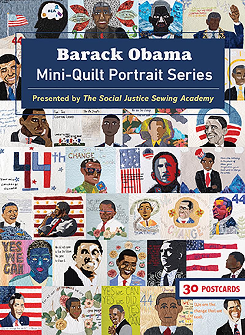 Barack Obama Mini-Quilt Portrait Series