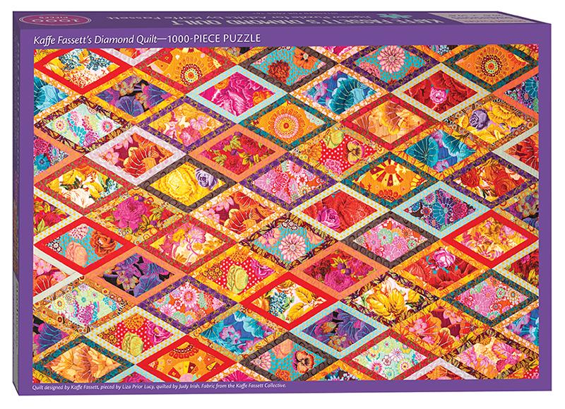 Kaffe Fassett's Diamond Quilt Jigsaw Puzzle