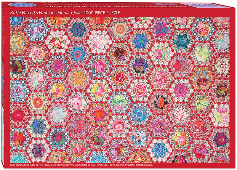 Kaffe Fasett's Fabulous Florals Quilt Jigsaw Puzzle