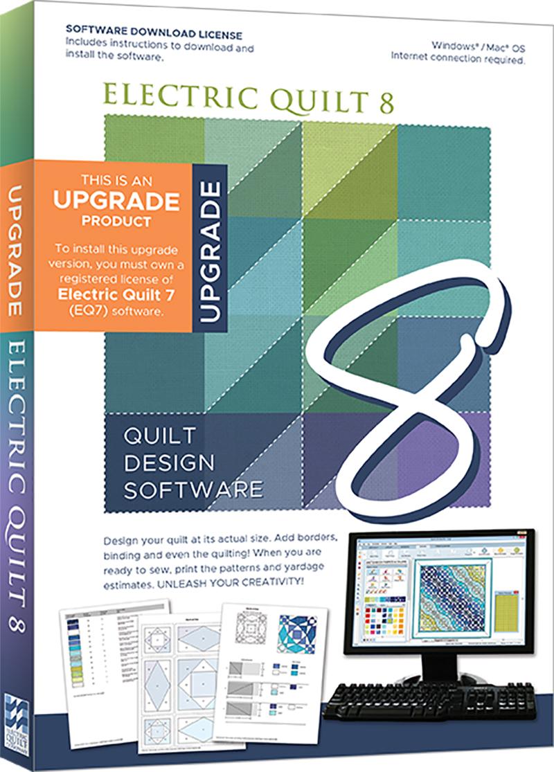 Electric Quilt 8 (EQ8) Upgrade Quilt Design Software
