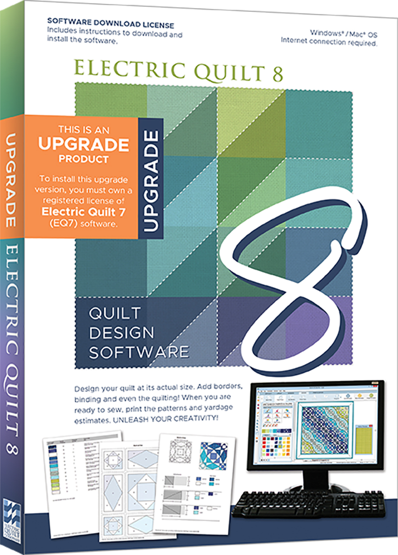 Electric Quilt 8 (EQ8) Upgrade Quilt Design Software