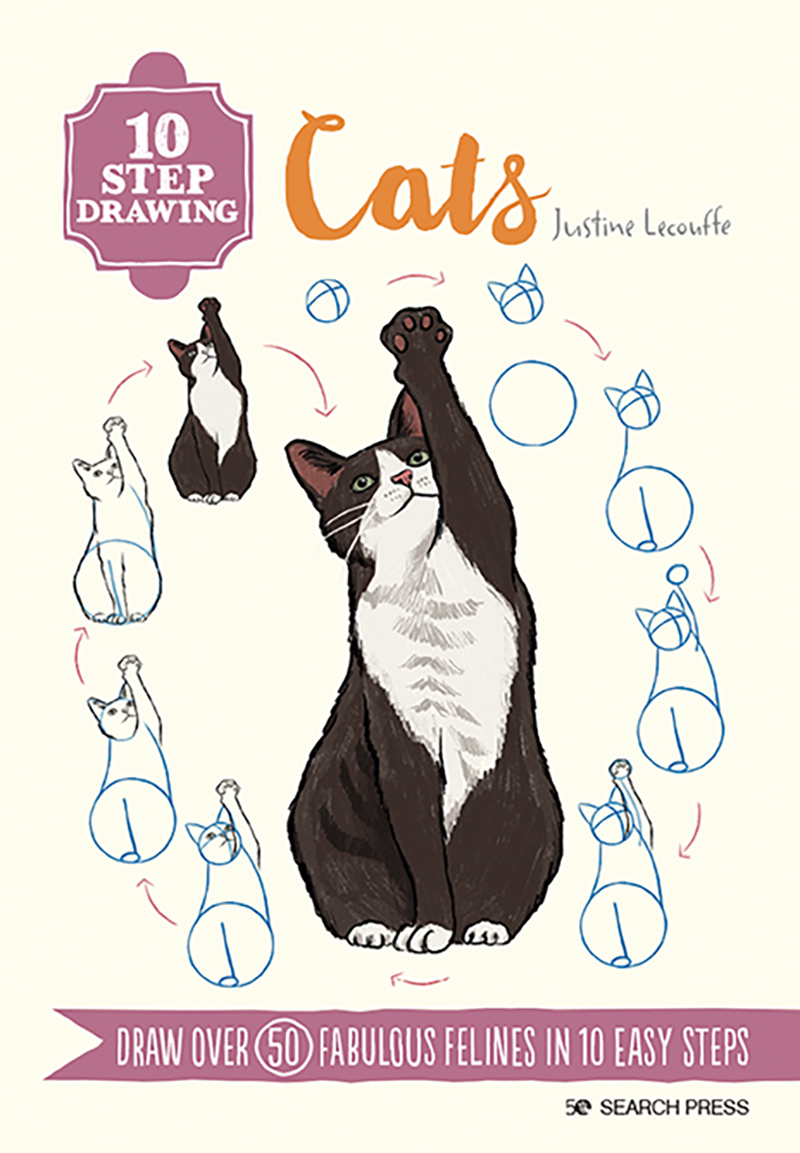 10 Step Drawing: Cats