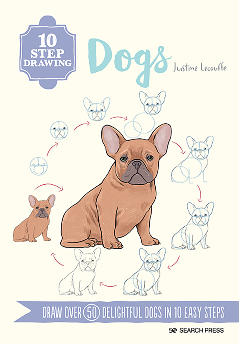 10 Step Drawing: Dogs