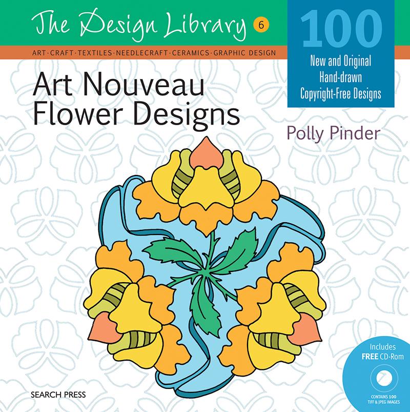 Design Library: Art Nouveau Flower Designs (DL06)