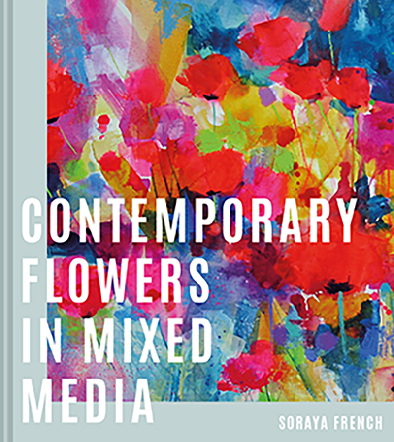 Contemporary Flowers in Mixed Media