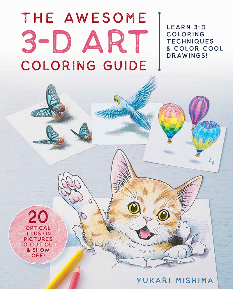 The Awesome 3-D Art Coloring Guide