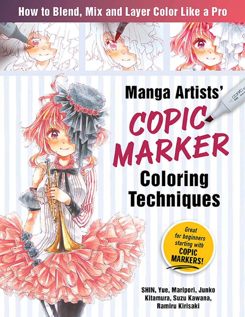 Manga Artists' Copic Marker Coloring Techniques